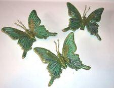Christbaumschmuck - 3 Schmetterlinge  mit Clip - Deko - Goodwill