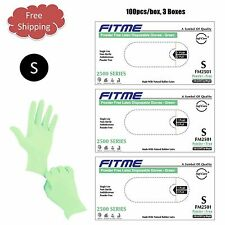 FITME®  Latex Disposable Powder Free Gloves- SMALL 300pcs - GREEN