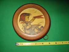 Vintage Edelweiss Circular Wood Musical Ornament Rare Style 5303 Switzerland