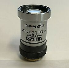 ZEISS Plan 1.25X Microscope Objective Macro / Micro Photography Part 462014-9901