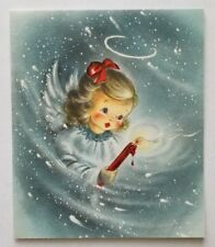 Vintage Hallmark Angel Christmas Card 1950's