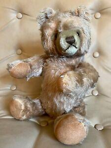 """Vintage Steiff Mohair Teddy Bear with Button 16"""" Tall"""