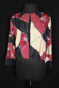 VERY RARE VINTAGE 1940'S CRAZY QUILT WOMAN'S JACKET SIZE MEDIUM