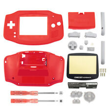 Replacement Solid Red Housing Shell+Screen Len for Nintendo Gameboy Advance GBA