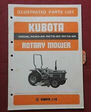 Kubota L2350 L2550 L2750 L2950 Tractor Rc 60 Rc 72 Mower Deck Parts Manual