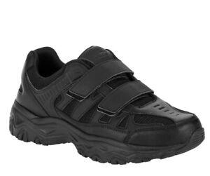AVIA Men Black Leather & Mesh Comfort Gel Sneakers /Shoes Size 8.5W/9.5W12W/13W