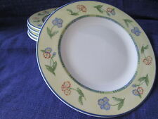 Royal Grafton HIGHLAND BORDER Bread & Butter Plates LOT of TWO 2 yellow