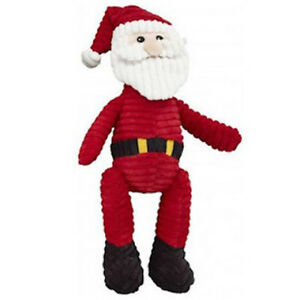 """SPOT ETHICAL HOLIDAY CORDUROY SANTA 23""""  2 SQUEAKERS DOG TOY FREE SHIP IN USA"""