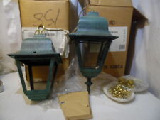 Forecast Lighting 93468-66 Two Vintage Exterior Ceiling Mount Light Fixture Aged