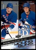 2020-21 UD Series 1 Base Young Guns #250 Alexis Lafreniere/Vitali Kravtsov CL RC