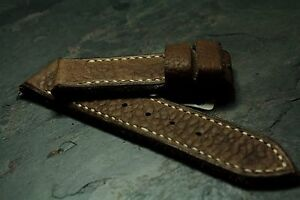 24 or 26mm strap glove tanned Buffalo No tapering ZTRITIUM Vintage for Panerai