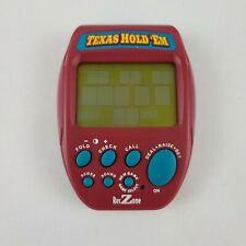 RECZONE Texas Hold'em Electronic Video Poker Game Travel Game Red Handheld