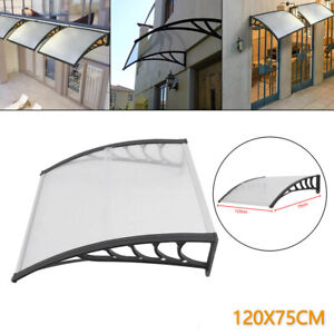 120*75CM Door Awning Patio Roof Sun rain cover Outdoor Shade Patio Roof cover