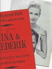 1963 John Barry Nina and Frederik FLYER and PROGRAMME Royal Festival Hall