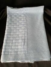 Koala Baby Blue Knit Baby Blanket Euc