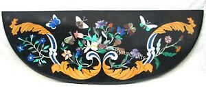 Black Stone Console Table Beautiful Nature Pattern Dining Table Top  36x12 Inch