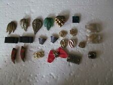 Fabulous Lot Of 23 Vintage Shoe Clips Or Scarf Clips - Pairs & Singles - Look!