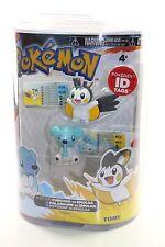 Pokemon Series 2 FIGURE PACK Cubchoo vs Emolga pokedex ID tag Tomy Polarhume