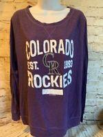 Colorado Rockies Womens MLB Genuine Merchandise Team T Shirt Size Large [MQ2]
