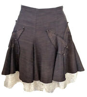 MOSA SIZE 6 QUALITY PATCHWORK  COTTON BLEND SKIRT