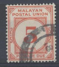 MALAYA-MALACCA-Tibres - Taxe - Dentellatura 15 x 14 - Filigrana CA multiple