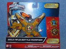 Power Rangers Ninja Steel DX Gold Morpher with 2  discs  NEW