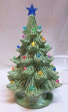 "8"" Vintage Nowell 384-Ceramic Christmas Tree - Green Tree- Electric Light Kit*"