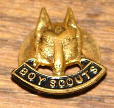 VINTAGE ORIGINAL 1960s BOY SCOUTS WOLF CUB LAPEL ENAMEL PIN BADGE