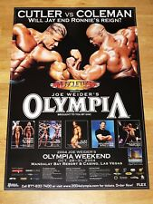 MR. OLYMPIA 2004 POSTER - JAY CUTLER VS. RONNIE COLEMAN & SYLVESTER STALLONE NEU