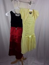 Lot of 2 Girl's Dress George iz Amy Byer Size 8 Red Black Yellow EUC