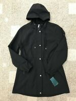 Womens Lauren Ralph Lauren Soft Shell Hooded Coat Black Size Large L Jacket