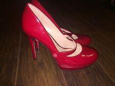 Jessica Simpson Bogart Platform Pump  SZ 9 Red Stiletto Maryjane Style