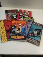 Lot of 6 Goosebumps #1, Dracula #2,3 & 4 Emily the Strange GRAPIC Novels.
