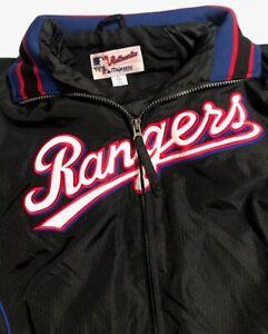 Texas Rangers Majestic MLB Authentic Warm Up Style Jacket Youth Large Great!