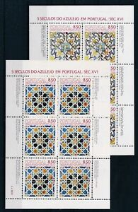 [G27614] Portugal : Art/Painting - Good Lot of 2 Very Fine MNH Sheets