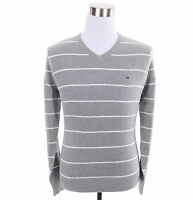Tommy Hilfiger Men Classic V-Neck Stripe Long Sleeve Sweater - Free $0 Shipping