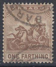 BARBADOS 1909-10 1/4 d. N.163 USATO