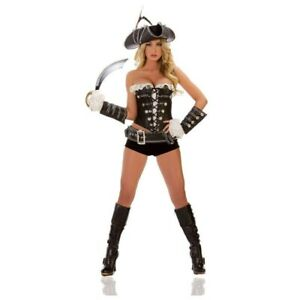 Mystery House Black Pirate Halloween Sexy Womens Costume L 12 Worn Once