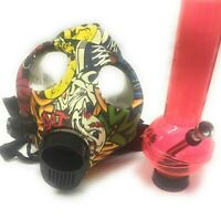 New Gas Mask Bong Silicon Smoking Colorful Solid Hookah USA Seller