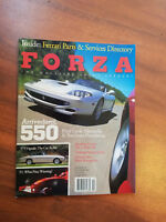 Forza. the magazine about ferrari. Number 40. Arrivederci, 550. October 2002