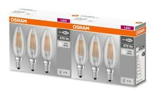 6er PACK Osram LED Base Classic Filament Lampe B40 E14 4W 4000K Cool White = 40W