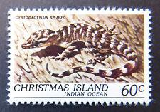 1981 Christmas Island Stamps - Wildlife - Reptiles - Single 60c Gecko MNH