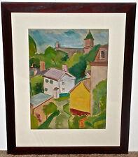 Charles Morton Hayes Fauvist Townscape  Colorado Modernist Artist