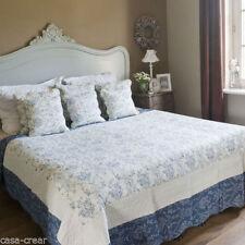 Couvre-lit lavable en machine bleus