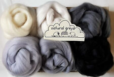 Merino Wool roving/ tops / Felting, needle felting, animal colours 60g