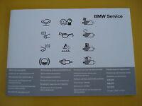 BMW Libro De Mantenimiento Todos los BMW 1 2 3 4 5 6 7 SERIES M3 M5 X1 X3 X5 X6