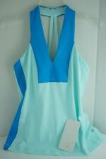 NWT LULULEMON OPEN SOUL TANK AQAM/BRAB Lite Luon Yoga Exercise Blue Top NEW 8