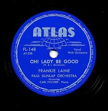 FRANKIE LAINE on 1947 Atlas FL-148 - Oh! Lady Be Good / You Can Depend on Me
