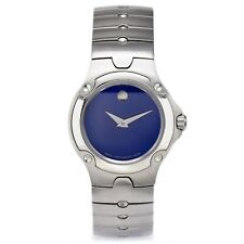Movado SE Sports Edition Blue Dial SS Women's Quartz Watch + Box Ref. 84 G4 1851