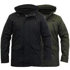 Brave Soul Cotton Button Hooded Coats & Jackets for Men